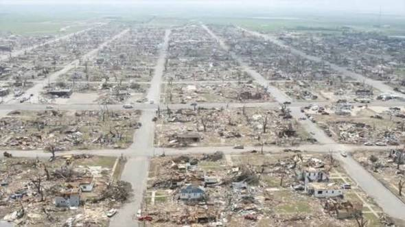 Greensburg after the tornado
